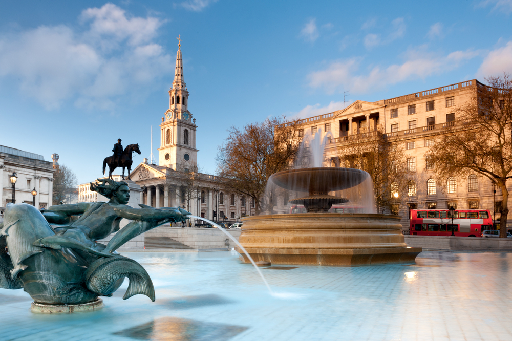 Trafalgar Square with St. Martin