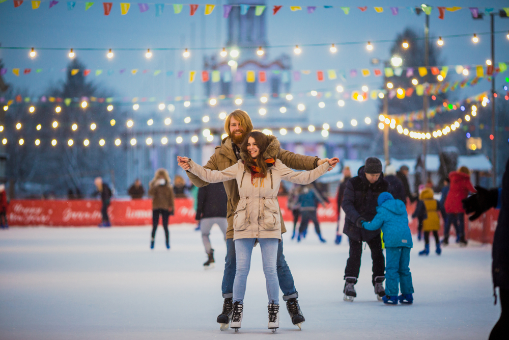 couple on ice rinks