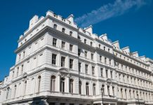 Beautiful building in the lancaster gate area of london